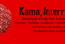 Kama, Interrupted / Kama, Interrupted is a multimedia art exhibition featuring eighteen artists based in Goa. The curated show, one of the largest in recent times will display more than seventy-five artworks and will be inaugurated by Dr. Sudhir Kakar, celebrated psychoanalyst, writer, and co-author of the latest translation of the Kamasutra on the 13th of February, 6.30 pm at Gallery Gitanjali, Fontainhas, Panjim.