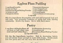 Vintage Recipes / Lovely clippings of vintage recipes from cookbooks and newsletters - not always doable, but such fun to read them
