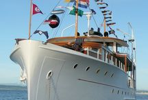 Classic sailing yacht detail