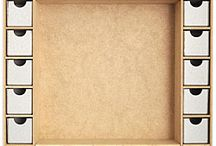 Kaisercraft - Beyond the Page / An assortment of Kaisercraft MDF creations for scrapbook assemblage projects