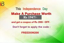 Independence Day / Trendybharat.com presents you a striking range of products with attractive deals and discounts on this Independence Day.