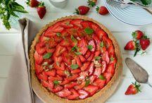 Thermo recipes / Strawberry custard tart with basil sugar