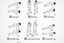 Mannen fitness training