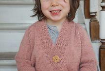 Child knitting