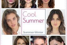 Cool Summer - Green Eyes, Medium Brown Hair