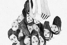 illustrationer svart/vit