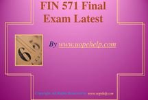 FIN 571 Final Exam Latest UOP Complete Course