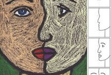 6.lk taide / Vuoden teemana erilainen näkökulma / kurkistus - taidekuvan tarkastelu - taidesuuntia (impressionismi, ekspressionismi, abstraktismi, surrealismi, kubismi, neoplastismi, Pop-taide)