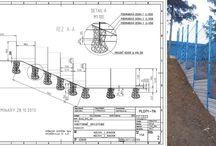 Modrý plot v Trenčíne- Referencia / V Trenčíne sme dodávali plotový systém Nylofor, kompletne i so stĺpikmi a doplnkami v špeciálne vyrobenej modrej farbe, podľa korporátnej farby zákazníka.