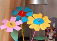 Flores / Cartulina
