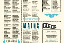 Menu card design inspiration