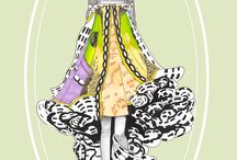 Mary Katrantzou illustrated
