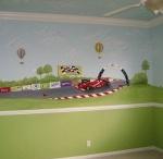 """Kid's Bedroom Decor / Boy's bedroom decor ideas.  Ethan wants a race car /Nascar. Not a """"Cars""""movie theme.  Zack has a ocean life theme."""