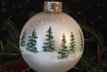 Christmas tree ornaments - painted