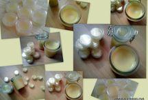 COSMETIC - HOMEMADE (DOMÁCÍ KOSMETIKA / HERBAL LOTION, SOAP, LIP BALM Bylinkové krémy, mýdla, pomády na rty