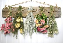 dried flower board