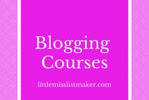 Blogging Courses / Courses/Webinars/Podcasts to help bloggers perfect their craft