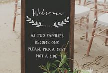 | wedding signs | / Custom wedding signs are simply a must. Whether it's handmade bunting, a DIY wooden sign, or a gorgeous chalkboard piece- you'll find it here!