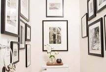 Art in Bathrooms /  In ensuites and well-ventilated larger bathrooms, hanging art adds a dramatic flair. It's a room often over-looked for framed prints but family photos or an eclectic collection of art prints can look great in your bathroom.