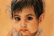 Z pastel, pencil.... portraits - děti