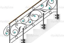 corrimao de escada e guarda corpo