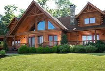 The Green Acres Log Home by Beaver Mountain Log Homes