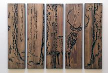 Wooden Engraved Wall Art / Engraved unique artwork