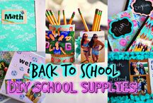 Diy school supplies and organization