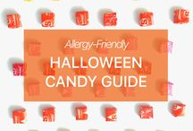 """Halloween Food Allergy Guide / Halloween and candy go together like food allergies and reading labels. Having food allergies almost guarantees that some Halloween candy will be off limits - unfortunately, leading to a string of """"no's."""" In the Spokin spirit of focusing on the positive, we created candy guides organized by allergens to help you say """"yes"""" as much as possible."""