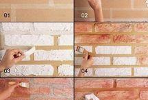 Fare muro a mattoni da sola