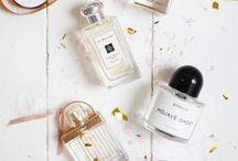 flat lay perfume