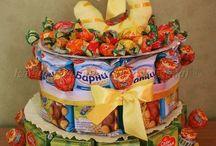 детские тортики из сладостей