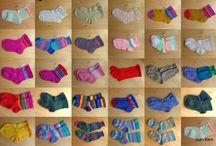 Sock knitting machine, CSM / Socks I have knitted on the Legare No 47 CSM, sock knitting machine.