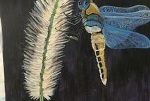 Pinturas en acrilico / Diseños a base de acrílico en papel, canvas y cartón.