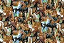 Horse Fabric / fabric for Carrie's office curtains