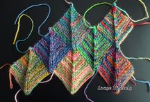 Mitered knitted squares