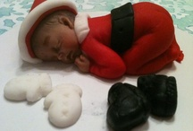 Christmas Baby Boy Fondant Topper 4