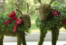 Christmas spirit / New year`s and christmas decor with reindeer moss