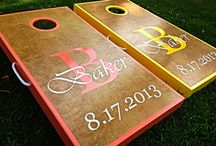 Andy & Ashley Cornhole board / by Angie Thayer