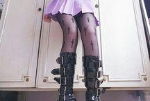 ☠ Cute but creepy / Lolita punk, pastel goth...   Super cute *•*