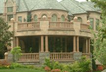 Cast Stone for Patios and Pools / Cast Stone Balustrade and Newel Piers, and Steps, Pavers, and Pool Coping.