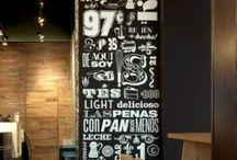 Type on blackboard