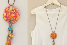 Fabric necklace ideas