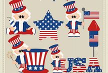 Clip Art - July 4th / In here is all of the 4th of July clip art graphics packages I offer. You can click on the image to visit the product page or visit :: http://www.clip-art-designs.com/clip-art/july-4th-clip-art