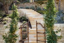 The Garden Gate / The many wonderful and beautiful garden entrances and gates  I've discovered on Pinterest. Now I'm looking elsewhere, and will suggest building some to our stone-making customers. / by Olde World Stone & Tile Molds, Inc.