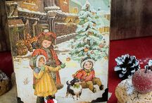 Christmas Decoupage Box Christmas Gift Box от elenaaleshina