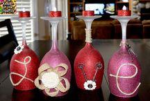 Create: wine glass candle holders