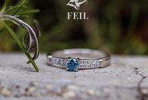 Eljegyzési Gyűrűk / Engagement Rings / FEIL Eljegyzési Gyűrűk gyémánttal és más drágakövekkel