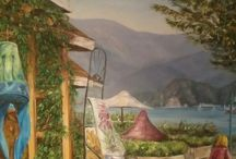 German Artists Paul Buten from Deep Cove / Paul Buten and his oil paintings from Deep Cove, Whistler and other hot spots of BC.  All pictures are for sale; frames, taxes and GST additional charges.