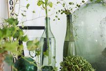 Inred med krukväxter